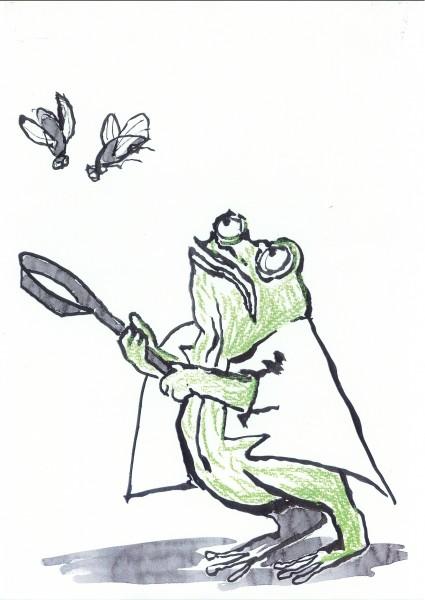 Lucia Ronchetti: L'ape apatica - Drawing by Toti Scialoja